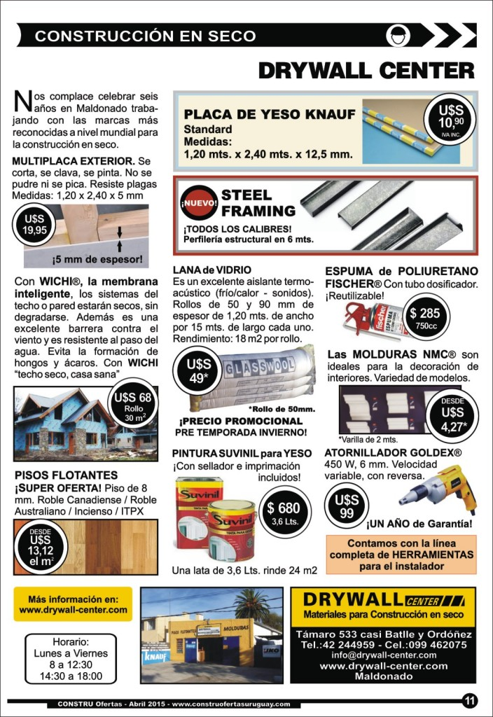 Visite la página web de Drywall Center