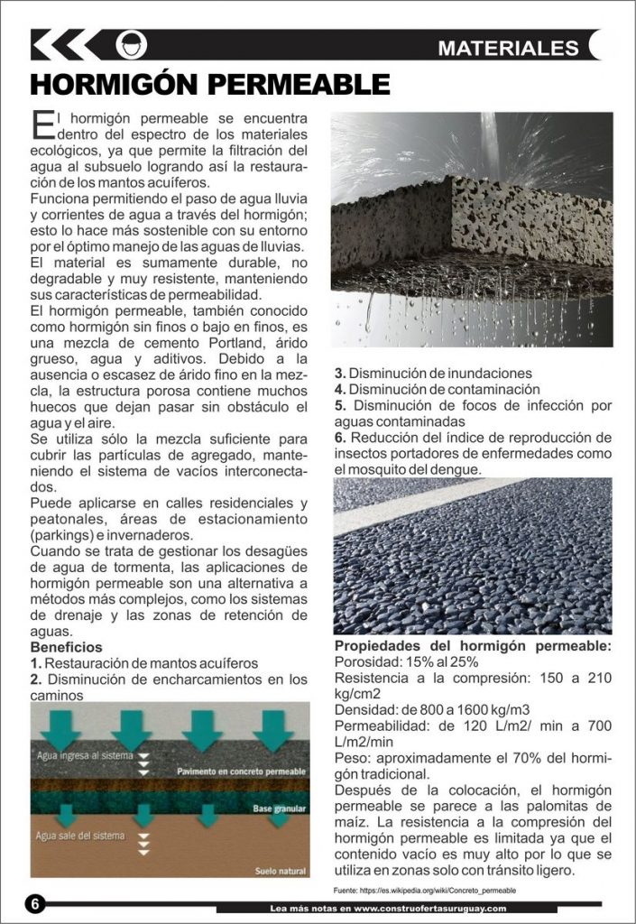 Materiales: Hormigón Permeable